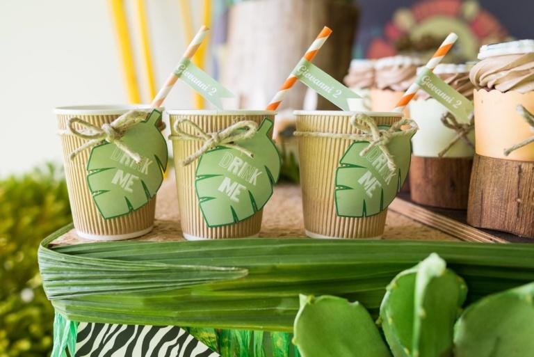 INVITI PERSONALIZZATI PER EVENTI E PARTY DESIGN sweet table personalizzato tema giungla