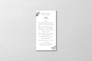 menu di nozze design tema aromatico