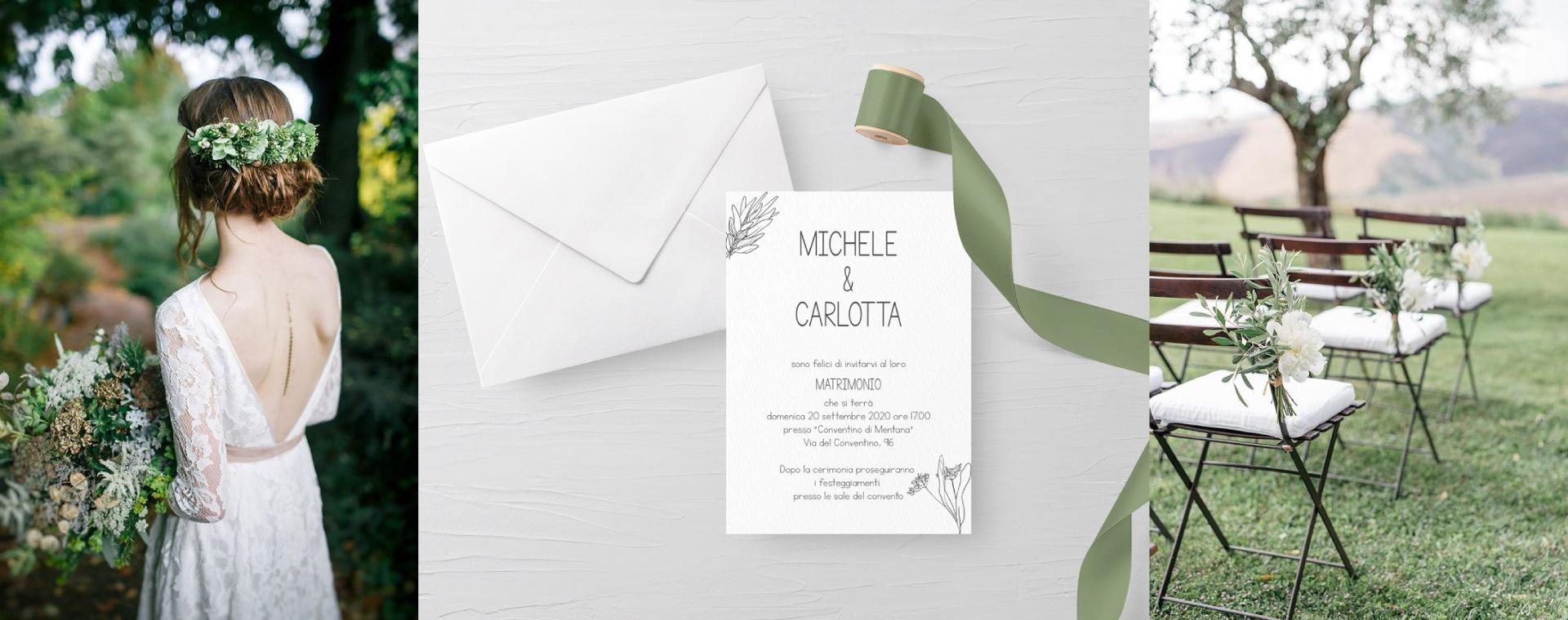 partecipazioni di matrimonio design aromatico minimal