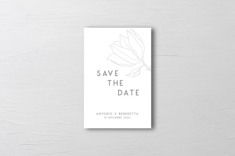 grafica per biglietto save the date matrimonio moderna