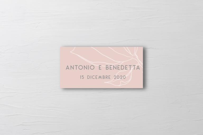 etichette per le bomboniere di matrimonio rosa cipria